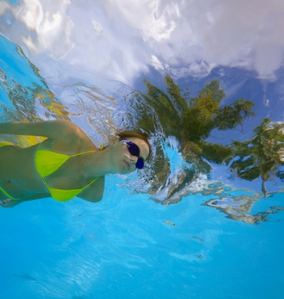 Swimming can help you trim fat, slim down